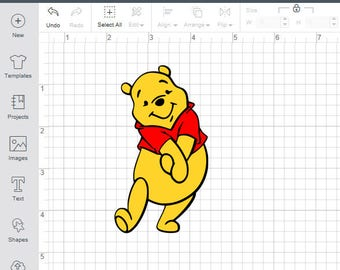 Winnie The Pooh SVG File for Cricut/Silhouette Layered Cutting File