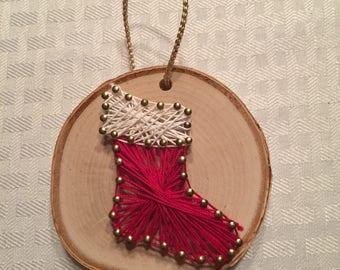Stocking String Art Ornament