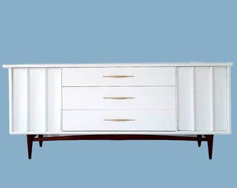 Sold mid century white Dresser . Ken Coffey Beauty !!. ask about something like this