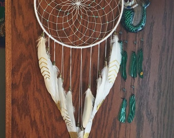 White and Gold Dreamcatcher