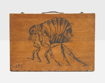 hand drawn artist box, flea artist box, vintage artist box, painters box, hand drawn painters box, vintate painters box, art supply box