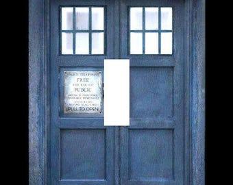 TARDIS Doctor Who Single Light Switch Plate Cover