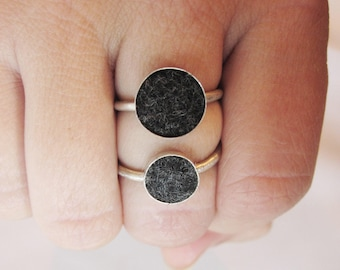 Large Size Sterling Silver Aromatherapy Diffuser Rings - Essential Oil Layering Jewelry - Healing Potion Carrier - Natural Gift