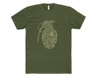 Grenade T ShirtMenS Cotton Crew Tee