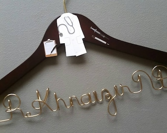Personalized Nurse Practitioner Hanger, New Graduate or The Soon to Be FNP,  FNP White Coat Ceremony, NP Great Gift