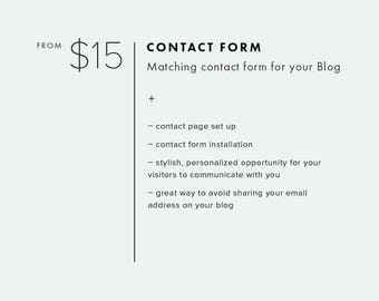 Contact Form — Add On — Add Custom Contact Page to Your Blog Template — Contact Page Set Up — Contact Form for Blogger or WordPress