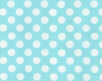 Changing Pad Cover | Aqua Polka Dot