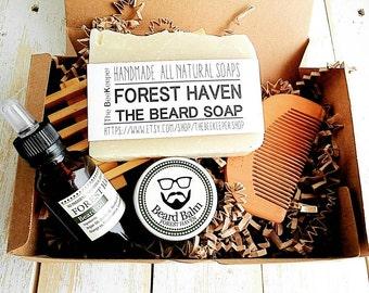 Beard Kit, Beard Grooming Kit, Beard Soap, Beard Oil, Beard Comb, Beard Care, Beard Shampoo, Beard Conditioner, Fathers Day Gift, Beard Bar