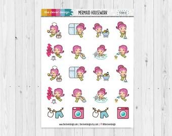 Mermaid Housework Planner Stickers | 17208-02