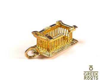 Yellow gold pendant - Parthenon Acropolis