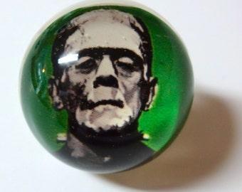 FRANKENSTEIN Ring - Snow Globe Illusion Ring - Halloween Ring - Halloween Jewelry - Frankenstein Jewelry - Frankenstein