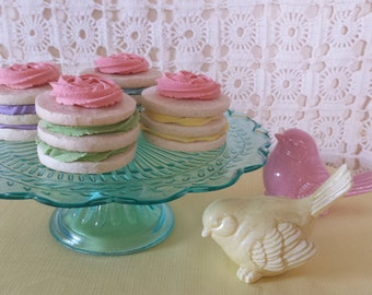 Fake cookies/Faux cookies/Fake food prop/Photo props/Cookie stacks/Frosted cookies/Spring decor/Pastel/Artificial cookies/Sugar cookies