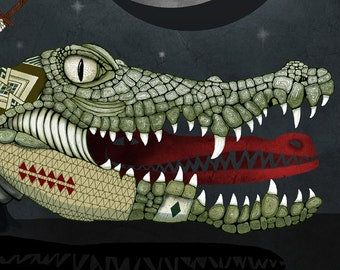 "Neverland Crocodile 37"" x 15"""