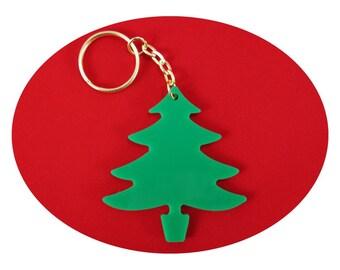 Christmas Tree Lucky Charm Bag Dangler and Key Ring