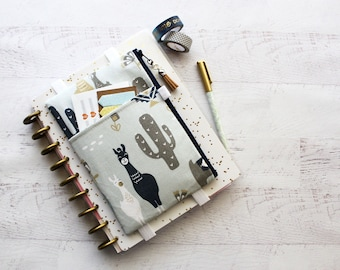 Llama journal accessories bag - pencil case - llama planner cover - planner accessories - llama zipper pouch - fitness planner - gift ideas