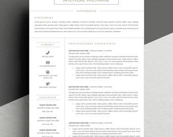 2 pages resume template for word