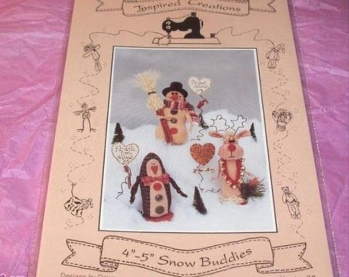 Vintage Inspired Creations Presents SNOW BUDDIES Pattern it is a RETIRED Pattern.