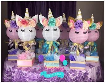 Unicorn Centerpiece ,Happy Birthday Unicorn Centepiece, It's a Girl Unicorn Centerpiece,Unicorn Birthday, Unicorn Baby Shower, Unicorn party
