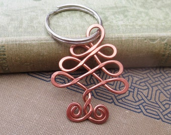 Celtic Tree Copper Key Chain Celtic Knot Christmas Tree Keychain Christmas Gift Tree KeyRing Copper Tree of Life Key Ring Accessories Unisex