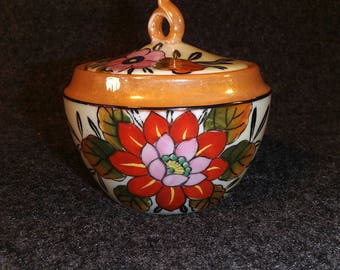 Vintage Lustreware - Sugar Bowl - Tashiro Shoten -  Elephant Head Mark - Made in Japan