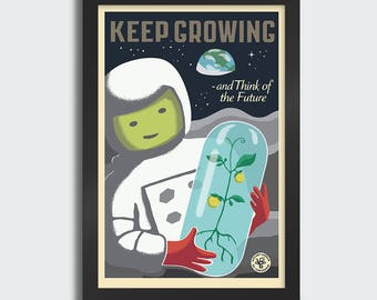 Keep Growing - 12x18 poster print