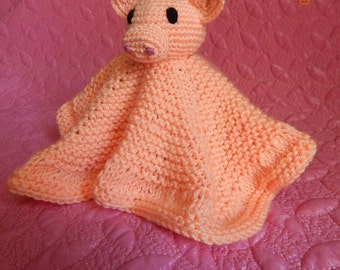 Small sleeping blanket with piglet - a toy for children. A nice gift for baby