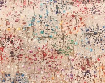 Cork Fabric from Portugal   Rainbow