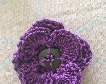 Button Flower Brooch