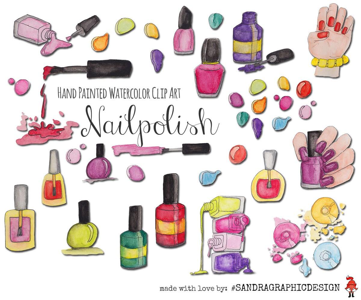 Nail polish clip art with