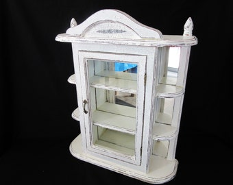 White shabby cabinet