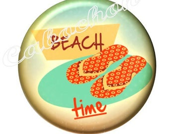 1 cabochon 30mm glass cabochon holiday image shown