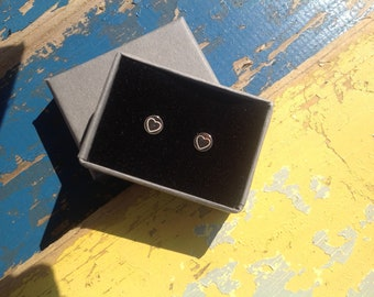 Sterling Silver Mini Love Heart Sweetie Ear Studs Earrings with Gift Box,End of Year Present,Quick Post