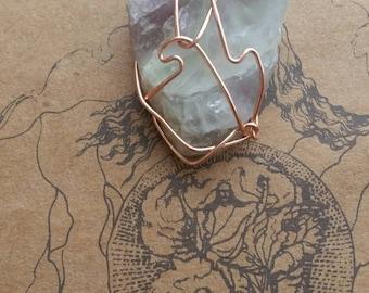 Fluorite Necklace /\ Copper
