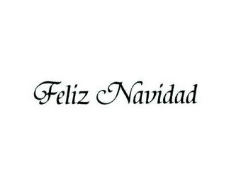 FELIZ NAVIDAD Spanish Merry Christmas UNMOUNTED rubber stamp, estampilla del espanol, Sweet Grass Stamps  No.21
