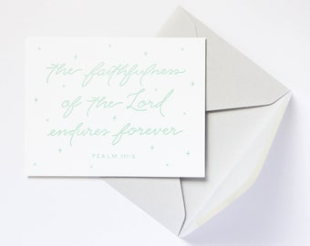 8-Pack Faithfulness / Psalm 117:2 Letterpress Note Card