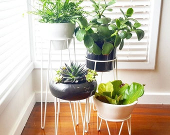 Hairpin Leg Plant Stand, Hoop Plant Stand, Metal Plant Stand, Plant Stand