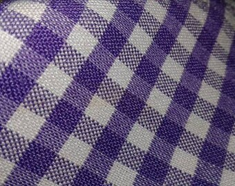 Purple Plaid Fabric by the yard Check Gingham fabric by the yard Border print fabric by the yard Novelty print fabric