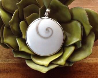 "Shiva Shell, Eye of Shiva Sterling Silver Pendant ~ Mermaids' Money ~ ""Oracle for Flow of Life"""