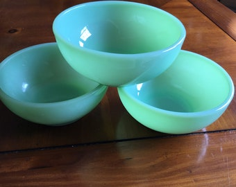 Fire King Jadeite cereal chili bowls ~~FOR ALL THREE!!!