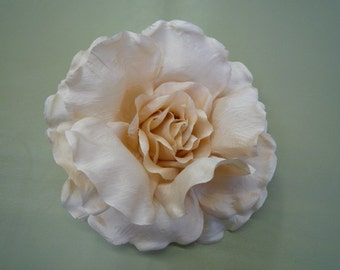 Silk Fabric Flower Pin - Special Peach Rose