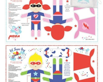 Super Hero Doll Panels