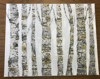 Acrylic Trees Painting