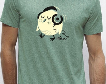 BIRDY HEADPHONES T-Shirt Boys (green)