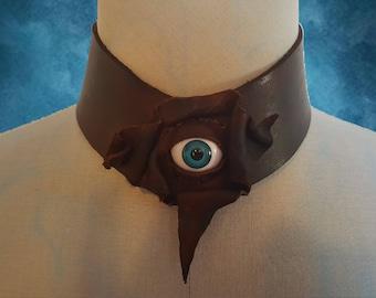 Creepy Leather Eye Collar