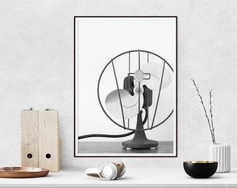 Vintage Fan Photo - Printable Wall Art, Modern Art, Instant Download, Scandinavian Downloadable Print, Digital Download, Wall Decor