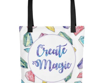 Create Magic   Crystal, Gem, New Age   Tote bag