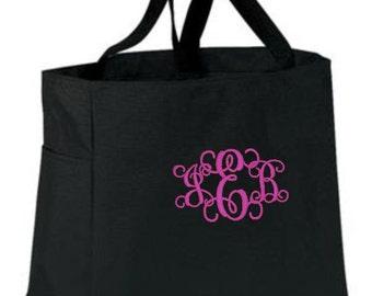 Monogram Tote Bag, Bridesmaid Gifts, Monogrammed Tote, Personalized Bag, Pool Tote, Beach Bags, Tote Gift, Personalized Gifts, Cre8ivGifts