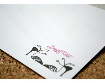 Personalized Stationery Note Card Set with High Heel Shoes