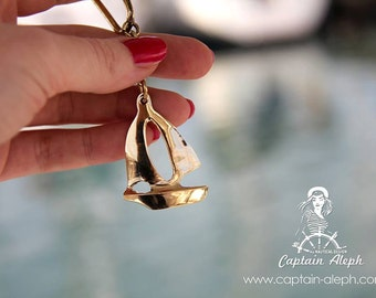 Sail Boat Key Chain, Brass Collection, Nautical Key Chain, Nautical Gift, Sailor Look, Nautical Design