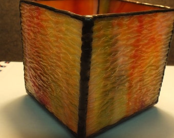Vintage Streaky Glass Candle Holder